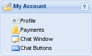 My Account panel