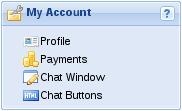 My Account panel