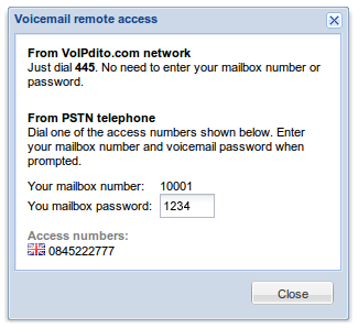Voicemail remote access
