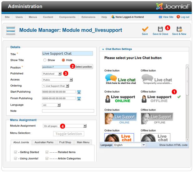 Joomla-1.7-configure-chat-module
