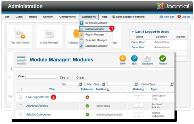 Joomla-1.7-enable-chat-module