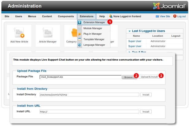 Joomla-1.7-install-chat-module