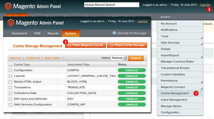 enable magento live chat