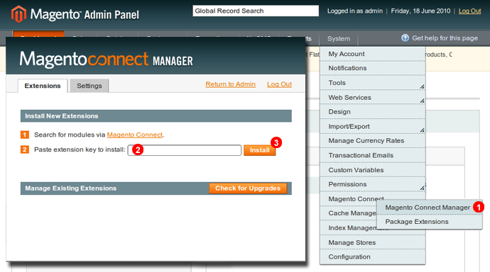 install magento live chat
