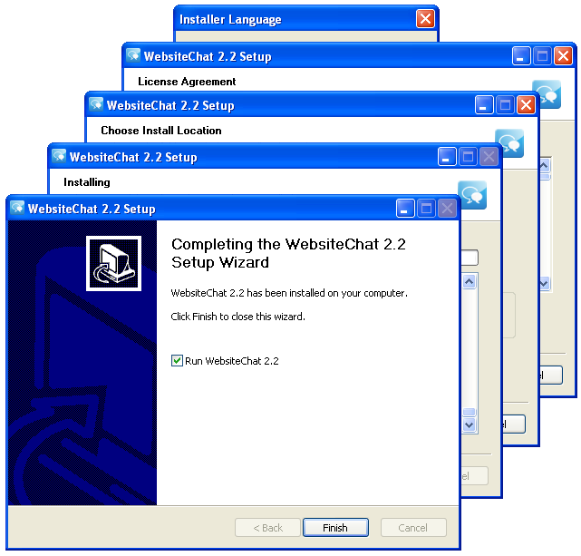 Chat Operator Application installation wizard