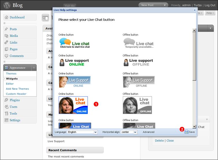 install wordpress live chat