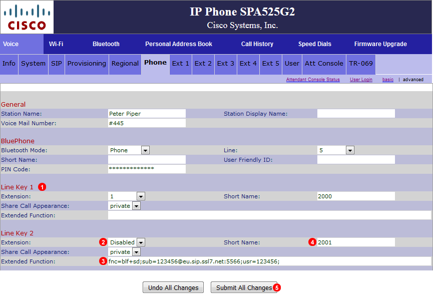 Cisco SPA525G BLF