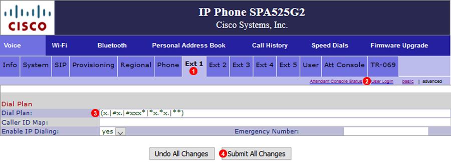 Cisco SPA525G Dialplan