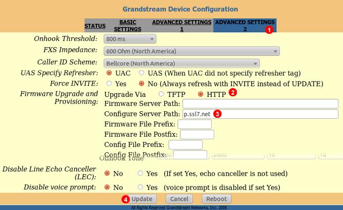 Grandstream HandyTone 286 auto provisioning