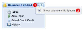 Balance panel