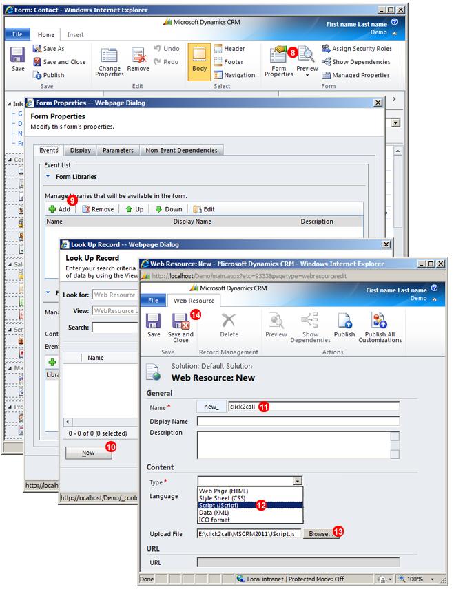 Cargar el archivo JS a MS Dynamics