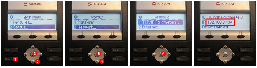 Polycom - Find IP address
