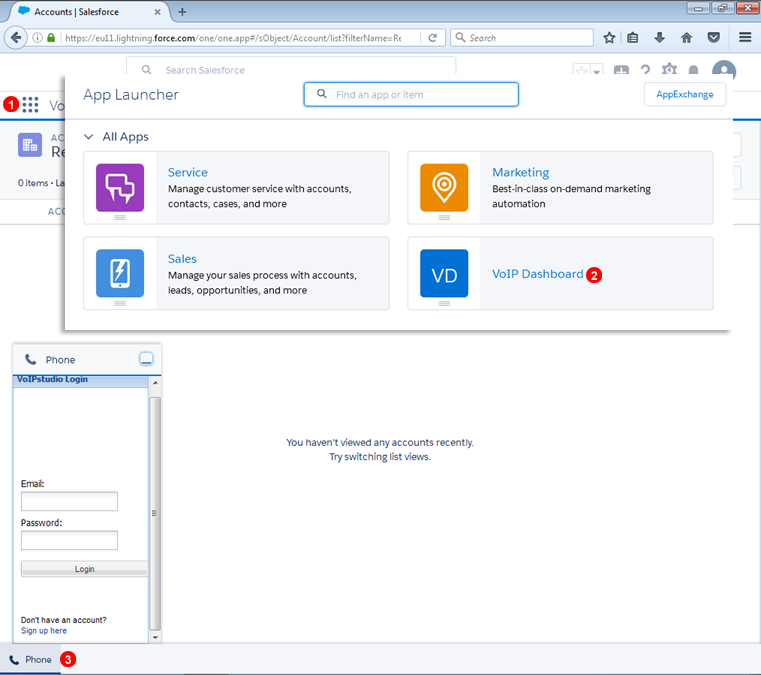 Salesforce Lightning Application