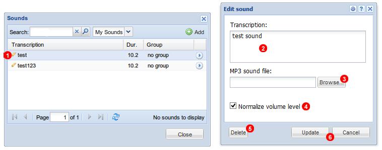 Edit sound