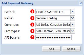 Add Payment Gateways Menu