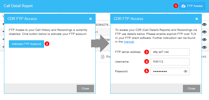 Obtaining FTP login details