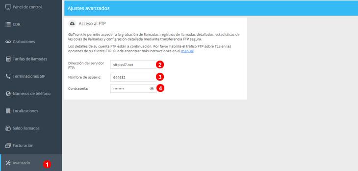 Obtener credenciales acceso FTP