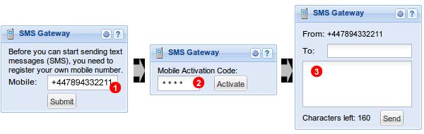 SMS Gateway panel