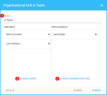 Add Organizational Units