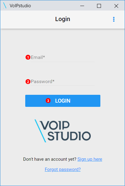 VoIPstudio Login to Chrome Extension