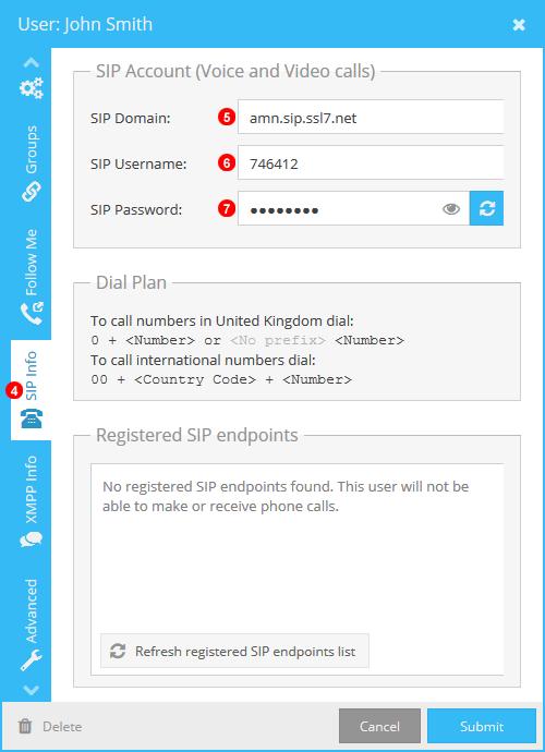 Taxi Caller VoIPStudio SIP Details