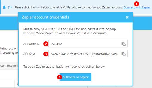Zapier Authentifizierungs-Schritt Eins