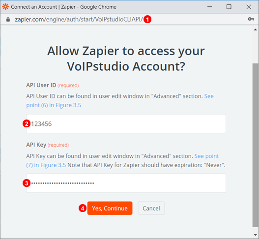 Zapier Authentication Step Two