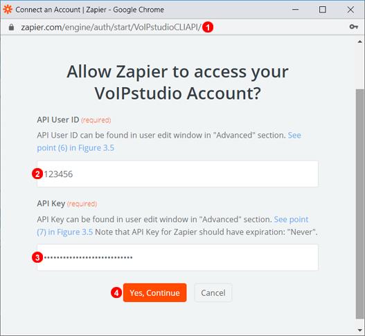 Zapier Authentifizierungs-Schritt Zwei