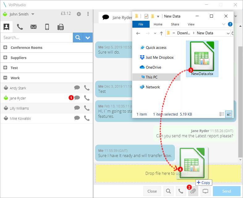 Softphone Application - File Transfer Sending