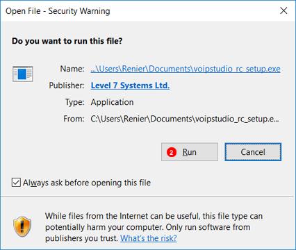 Desktop Application Run