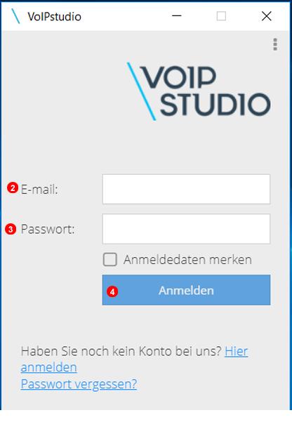 VoIPstudio Melden Sie sich bei Chrome Erweiterung an