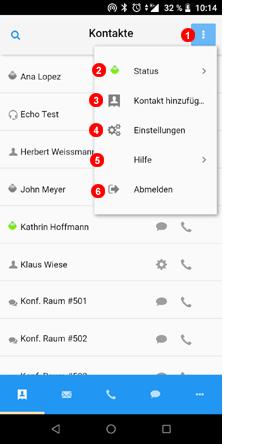 App Hauptmenü