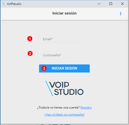 VoIPstudio Iniciar sesión el la Extensión de Chrome