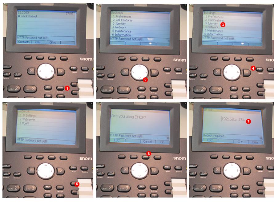 SNOM -  Descubrir la dirección IP del terminal