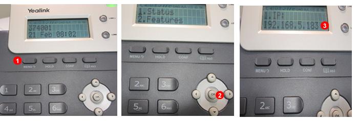 Yealink-  Descubrir la dirección IP del terminal