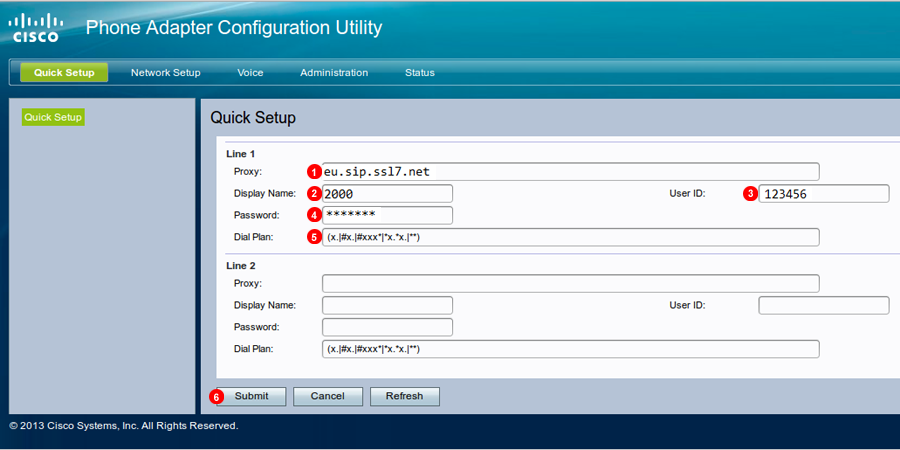 Configuración Cisco SPA112