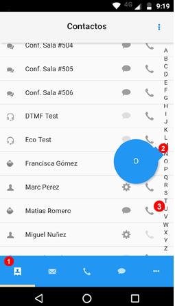 Contactos app