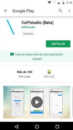 Instalación de la app